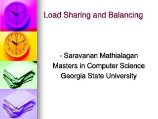 Load Sharing and Balancing