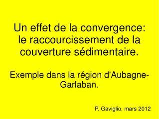 Un effet de la convergence: le raccourcissement de la couverture sédimentaire.