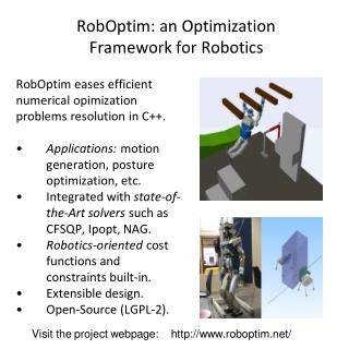 RobOptim: an Optimization  Framework for Robotics