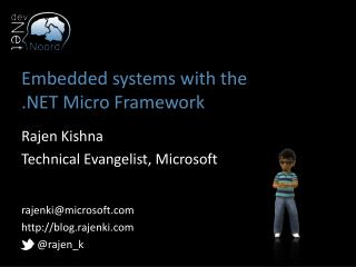 Embedded systems  with  the .NET Micro Framework