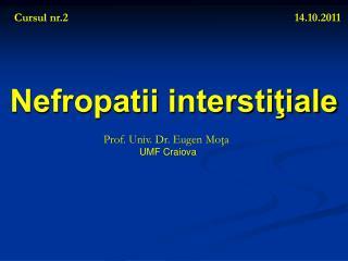 Nefropatii interstiţiale
