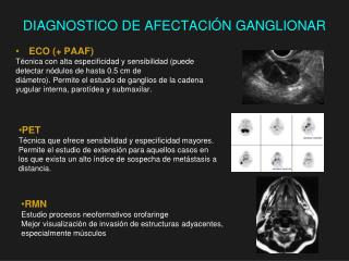 DIAGNOSTICO DE AFECTACI Ó N GANGLIONAR