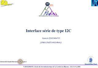 Interface série de type I2C