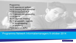 `Programma Netwerk Informatiemanagers 9 oktober 2014