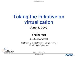 Taking the initiative on virtualization