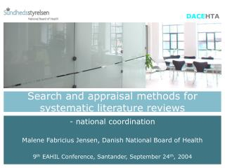 Search and appraisal methods for systematic literature reviews