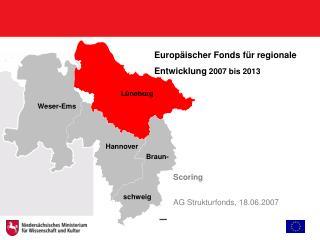 Europäischer Fonds für regionale Entwicklung  2007 bis 2013
