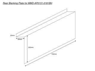 Rear Blanking Plate for MMD-AP0151-0181BH