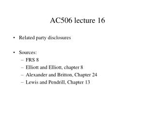 AC506 lecture 16