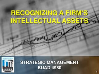 RECOGNIZING A FIRM'S INTELLECTUAL ASSETS