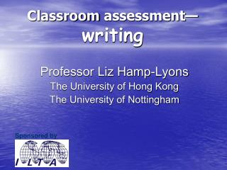 Classroom assessment— writing