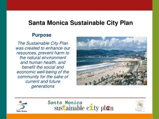 Santa Monica Sustainable City Plan