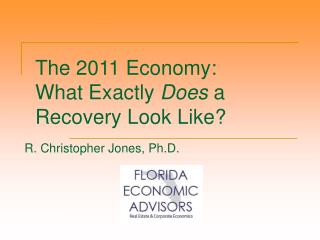 The 2011 Economy: What Exactly  Does  a Recovery Look Like?