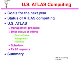 U.S. ATLAS Computing