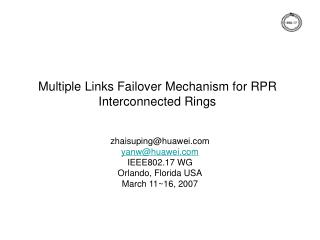 Multiple Links Failover Mechanism for RPR Interconnected Rings