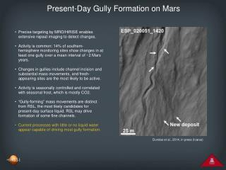 Present-Day Gully Formation on Mars