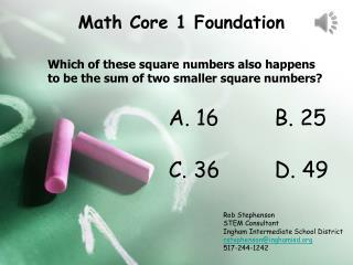 Math Core 1 Foundation
