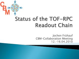 Status of the TOF-RPC Readout Chain