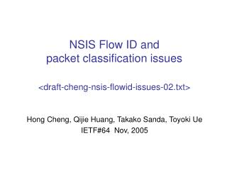 NSIS Flow ID and packet classification issues