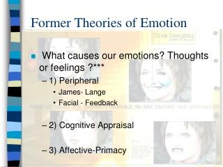 Former Theories of Emotion
