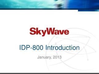 IDP-800  Introduction