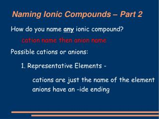 Naming Ionic Compounds – Part 2