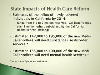 State Impacts of Health Care Reform