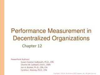 Performance Measurement in Decentralized Organizations
