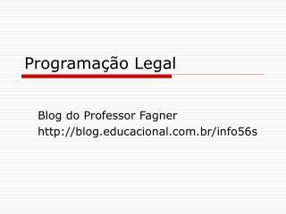 Programação Legal