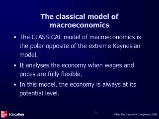 The classical model of macroeconomics