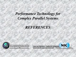 Performance Technology for Complex Parallel Systems REFERENCES