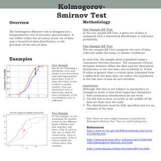 Kolmogorov -Smirnov Test