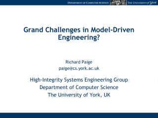 Grand Challenges in Model-Driven Engineering?