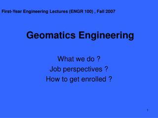 Geomatics Engineering
