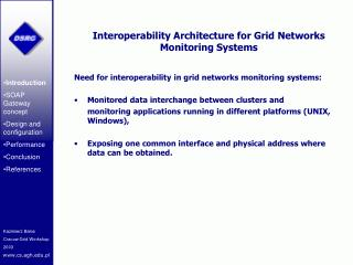 Interoperability Architecture for Grid Networks Monitoring Systems