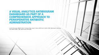 Visual Analytics  Antibiogram