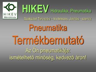 Pneumatika   Termékbemutató Az Ön pneumatikája:  ismételhető minőség, kedvező áron!