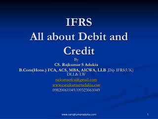 IFRS All about Debit and Credit