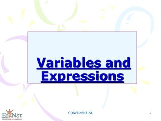 Variables and Expressions