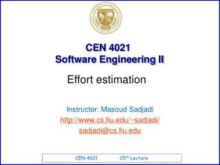 CEN  4021   Software Engineering II