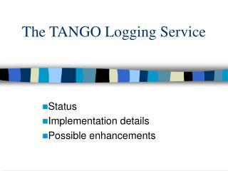 The TANGO Logging Service