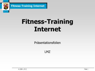 Fitness-Training Internet