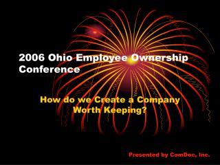 2006 Ohio Employee Ownership Conference