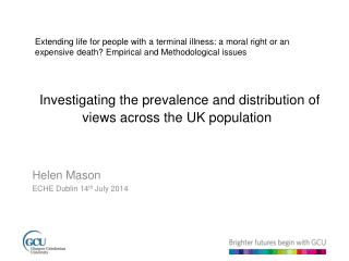 Investigating the prevalence and distribution of views across the UK population