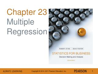 Chapter 23 Multiple Regression