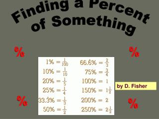 Finding the Percent of a Number