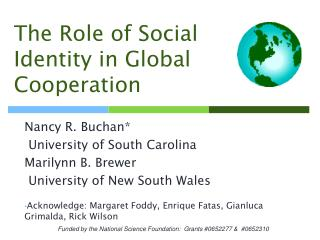 The Role of Social Identity in Global Cooperation