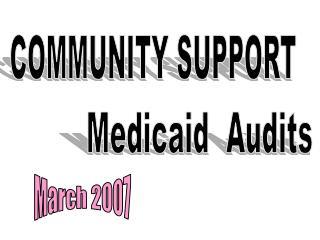 Medicaid  Audits