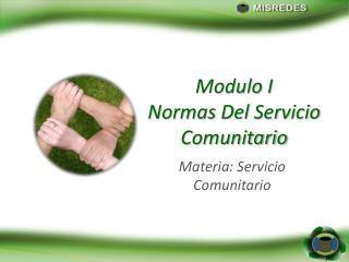 Modulo I Normas Del Servicio Comunitario