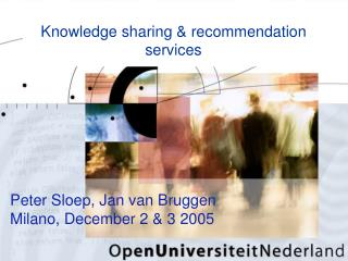 Knowledge sharing & recommendation services